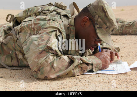 Sgt. Corey Smith, 5th Battalion, 5th Air Defense Artillery Regiment, 17th Field Artillery Brigade, out of Joint - Stock Photo