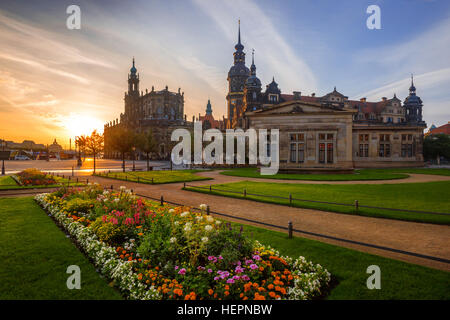 Cathedral of the Holy Trinity, Dresden Castle, Dresden, Saxony, Germany - Stock Photo