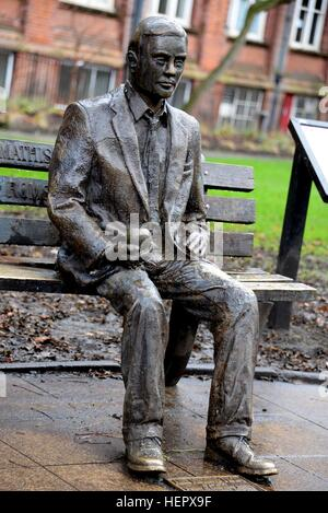 Alan Turing Statue, Manchester - Stock Photo