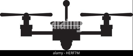 Drone icon. Technology remote aircraft uav spy and robot theme. Isolated design. Vector illustration - Stock Photo
