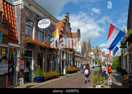 Spuistraat, Edam-Volendam, Province of North Holland, Holland, The Netherlands - Stock Photo