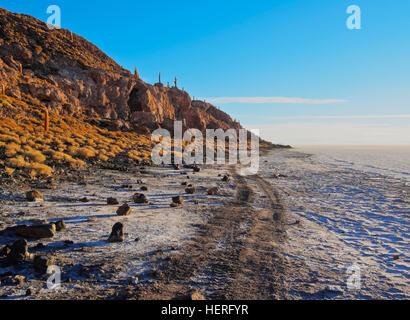 Salar de Uyuni, salt flats, Daniel Campos Province, Potosi, Bolivia - Stock Photo