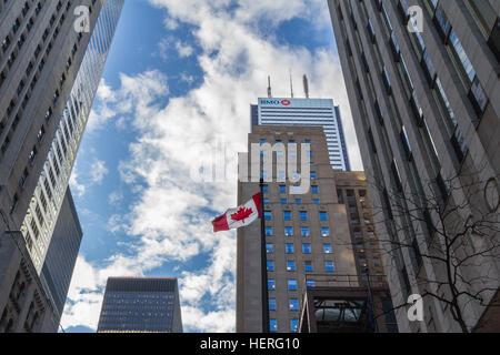 Bank of Montreal (BMO) main building in Toronto, Ontario, Canada - Stock Photo