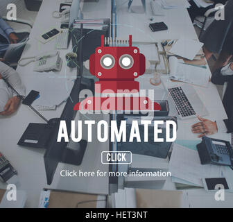 Robot Cyborg AI Robotics Android Concept - Stock Photo