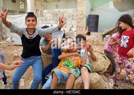 Syria, Rojava: in the streets of Kobani - Stock Photo