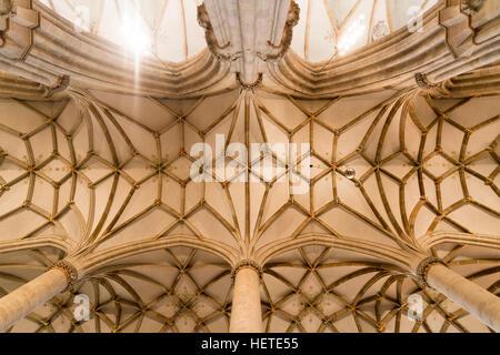 Ulm Minster ceiling, Ulm, Baden-Württemberg, Germany, Europe
