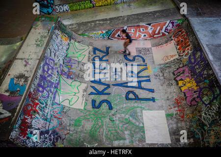 Skatepark de Bercy, Paris, France - Stock Photo