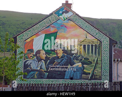 Irish famine republican wall mural whiterock road west for Easter rising mural