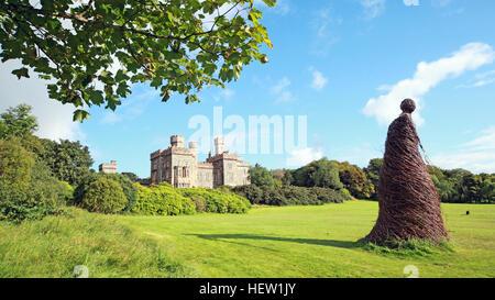Stornoway Isle Of Lewis,wicker woman at the castle,Scotland,UK - Stock Photo