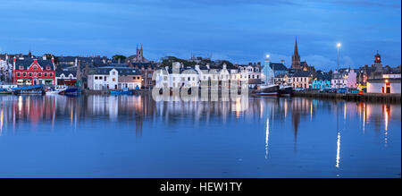 Stornoway Isle Of Lewis town panorama,Scotland, UK - Stock Photo