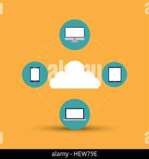 Gadgets icon design, vector illustration - Stock Photo