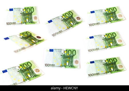 Set 5 Euro Banknotes Are In Denominations Of Five Euros Symbol Of