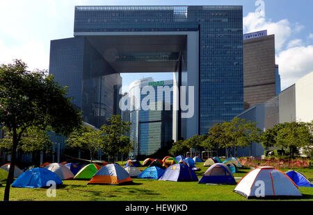 Occupy Central is a civil disobedience movement which began in Hong Kong on September 28, 2014. It calls on thousands - Stock Photo