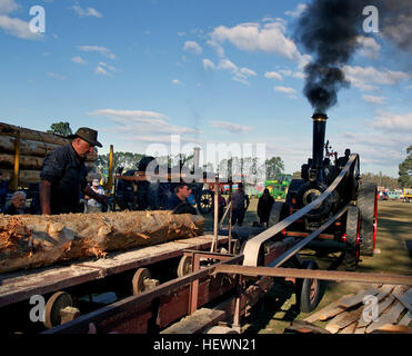In general usage, the term steam engine can refer to either the integrated steam plants (including boilers etc.) - Stock Photo