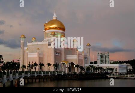 Sultan Omar Ali Saifuddin Masjid in Bandar Seri Begawan, the capital of Brunei  The Sultan Omar Ali Saifuddin Masjid - Stock Photo