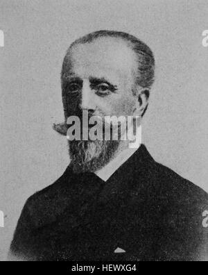 Traugott Hermann von Arnim-Muskau, 1839 - 1919, Diplomat and deputy in the German Reichstag, picture from 1895, - Stock Photo