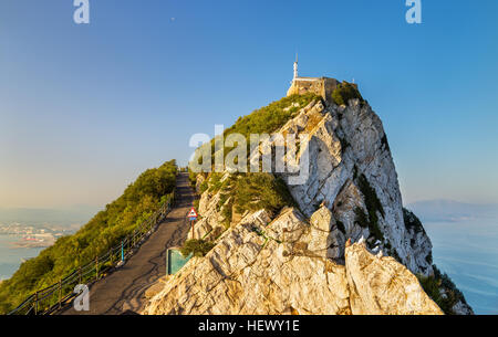 The Rock of Gibraltar, a British overseas territory - Stock Photo