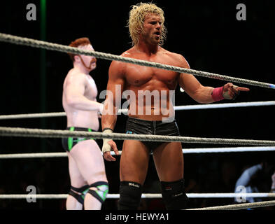 DURBAN, SOUTH AFRICA - AUGUST 01: Dolph Ziggler during the WWE World Tour 2013 at Westridge Park Stadium on August - Stock Photo