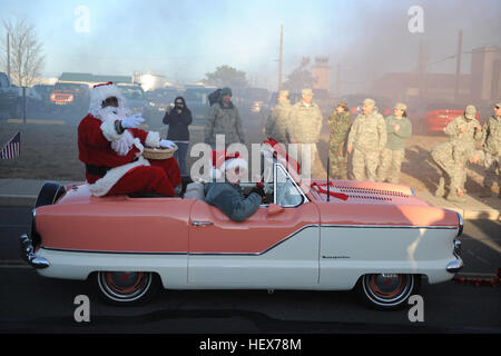 Members of the 106th Rescue Wing participate in a number of holiday activities during the December drill on December - Stock Photo