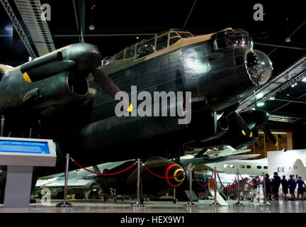 The Avro Lancaster is a British four-engined Second World War heavy bomber designed and built by Avro for the Royal - Stock Photo