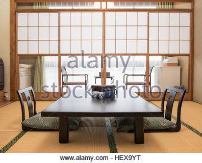 ... Typical Japanese Dining Room   Stock Photo