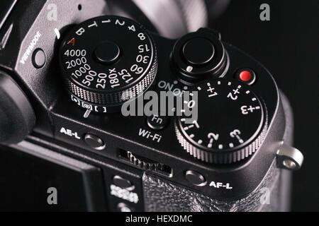 Digital slr camera, close up. - Stock Photo