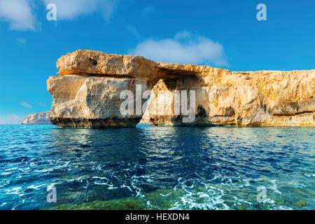 The stone arch (Azure Window), Gozo island, Malta. - Stock Photo