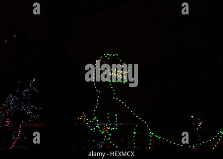 Calgary, Canada. 23rd Dec, 2016. The Calgary Zoo hosted it's annual Christmas light display, ZOOlights, with more - Stock Photo