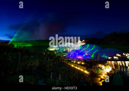 Eden Project Light and Sound Event, Eden Project, Cornwall, UK taken throughout December 2016 - Stock Photo