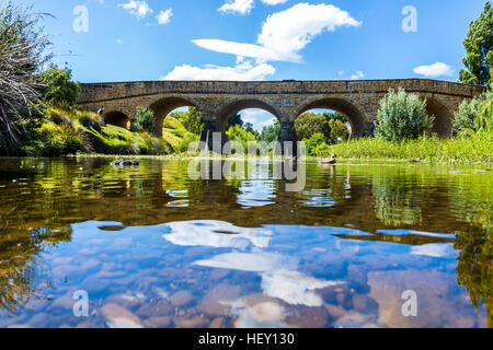 Richmond, Tasmania, Australia - December 21, 2016: Richmond Bridge oldest bridge in Australia - Stock Photo