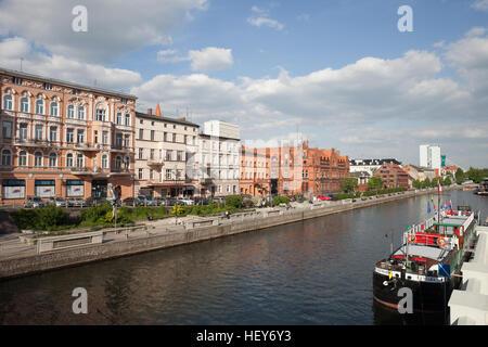 City centre skyline of Bydgoszcz in Poland - Stock Photo