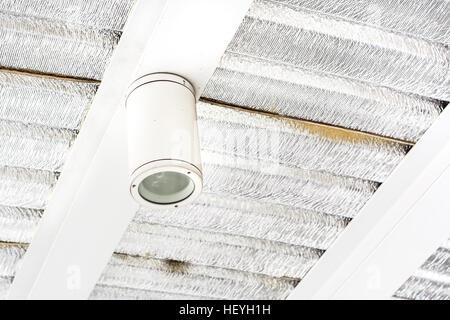 single led street light on ceiling - Stock Photo