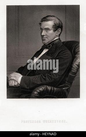 Sir Charles Wheatstone, ca 1870, by C.C. Cook - Stock Photo