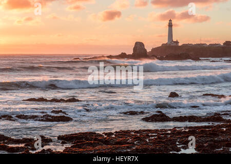 Sunset at Pigeon Point Lighthouse. - Stock Photo
