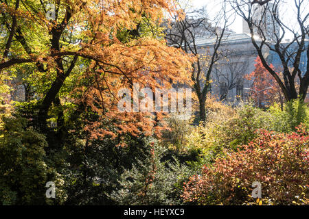 Central Park on the Upper East Side, NYC, USA - Stock Photo