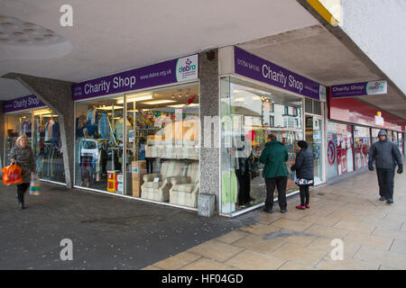 Debra Southport, Merseyside, UK. 24th December, 2016. Pre Boxing Day Sales.  Last minute shoppers are taking advantage - Stock Photo