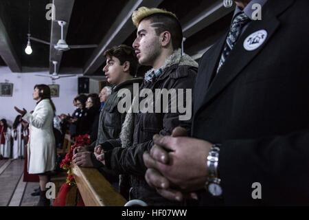 Christmas at Rojava Syrian Kurdistan -  24/12/2016  -  Syria / Rojava  -  December 2016 - Syrian Kurdistan (Rojava) - Stock Photo