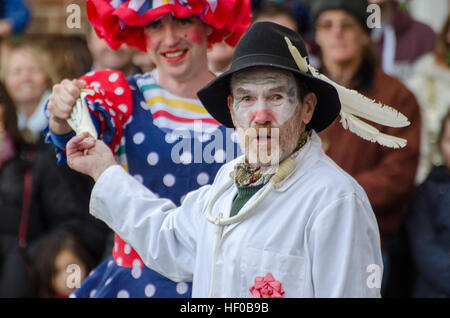 Wantage, UK. 26 Dec 2016. The character of Doctor Good played in a traditional Mummers Folk Play performed annually - Stock Photo
