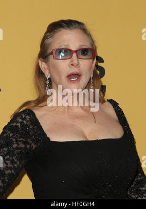 Los Angeles, Ca, USA. 25th Jan, 2016. Carrie Fisher at the 21st Annual SAG Awards Press Room in Los Angeles, California - Stock Photo