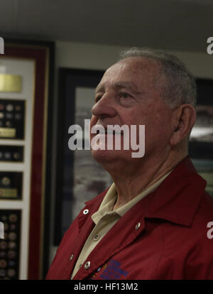Retired Lt. Col. Jay N. Bibler, a former F-4 Phantom pilot and a San Jaquin Valley, Calif., native, admires displays at the Flying Leatherneck Aviation Museum, Dec. 18. Bibler now works in the museum and still is passionate about Marine Corps aviation. Pilot takes off on adventure leading to first Phantom squadron 121218-M-XW721-022