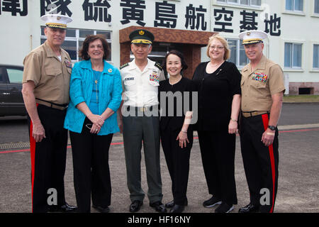 From left: U.S. Marine Corps General John Paxton Jr., Assistant Commandant of the Marine Corps , General Eiji Kimizuka, - Stock Photo