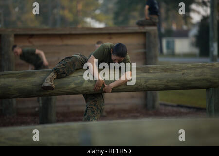 U.S. Marine Corps Private First Class Christina Fuentes-Montenegro from Delta Company, Infantry Training Battalion - Stock Photo