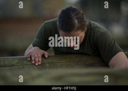 U.S. Marine Corps Private First Class Julia Carroll from Delta Company, Infantry Training Battalion (ITB), School - Stock Photo