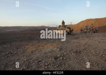 Marines with Combined Anti-Armor Team 2, Battalion Landing Team 3rd Battalion, 6th Marine Regiment, 24th Marine - Stock Photo