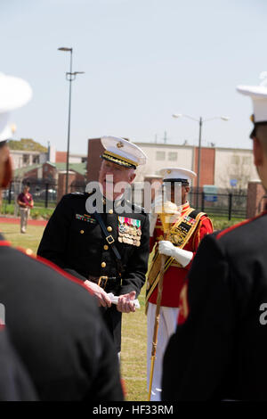 U.S. Marine Corps Lt. Gen. Richard P. Mills, commander of Marine Forces Reserve and Marine Forces North, speaks - Stock Photo