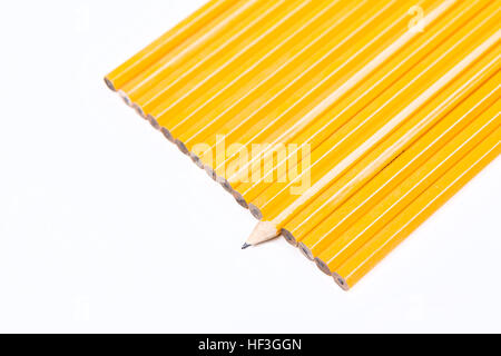 Concept unique No 2 pencils isolated on white background - Stock Photo