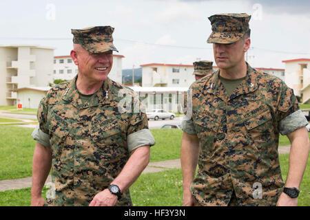 U.S. Marine Corps Lt. Gen. Lawrence D. Nicholson, commanding general of the III Marine Expeditionary Force, walks - Stock Photo