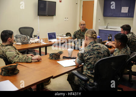 U.S. Navy Hospital Mate 3rd Class Justo Ramirez a corpsman with Special Purpose Marine Air-Ground Task Force Crisis - Stock Photo