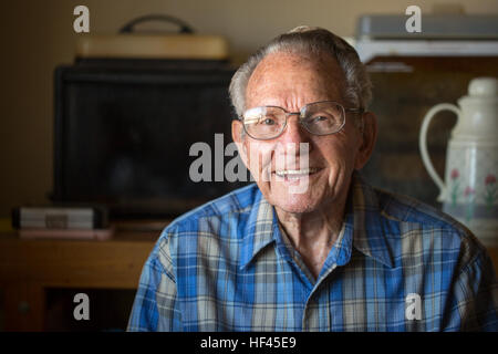 Sidney B. Jones, Pittsburgh, Pa., native, sits at his home in Twentynine Palms, Calif., Nov. 1, 2016. At the age - Stock Photo