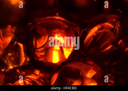 Round balls of gel abstract close up - Stock Photo